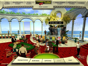 Caribbean Gold Casino Lobby Screenshot