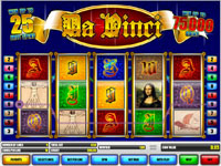 Play the Da Vinci Video Slot Now!