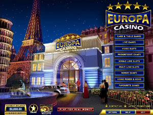 Europa Casino Lobby Screenshot