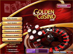 Golden Casino Lobby Screenshot