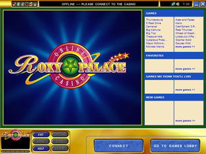 Roxy Palace Casino Lobby Screenshot