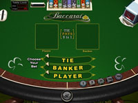 Baccarat at Club USA Casino