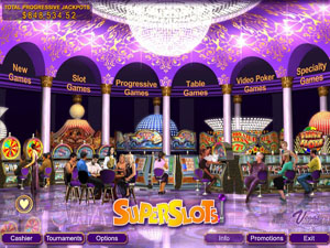 Superslots Casino Lobby Screenshot